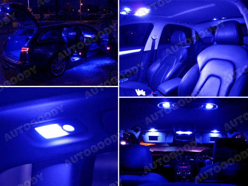 6 X Premium Blue Led Lights Interior Package Upgrade For Audi Tt Ebay