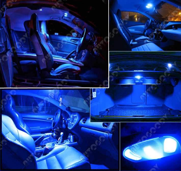 17 x premium xenon white led lights interior package kit for Led verlichting interieur