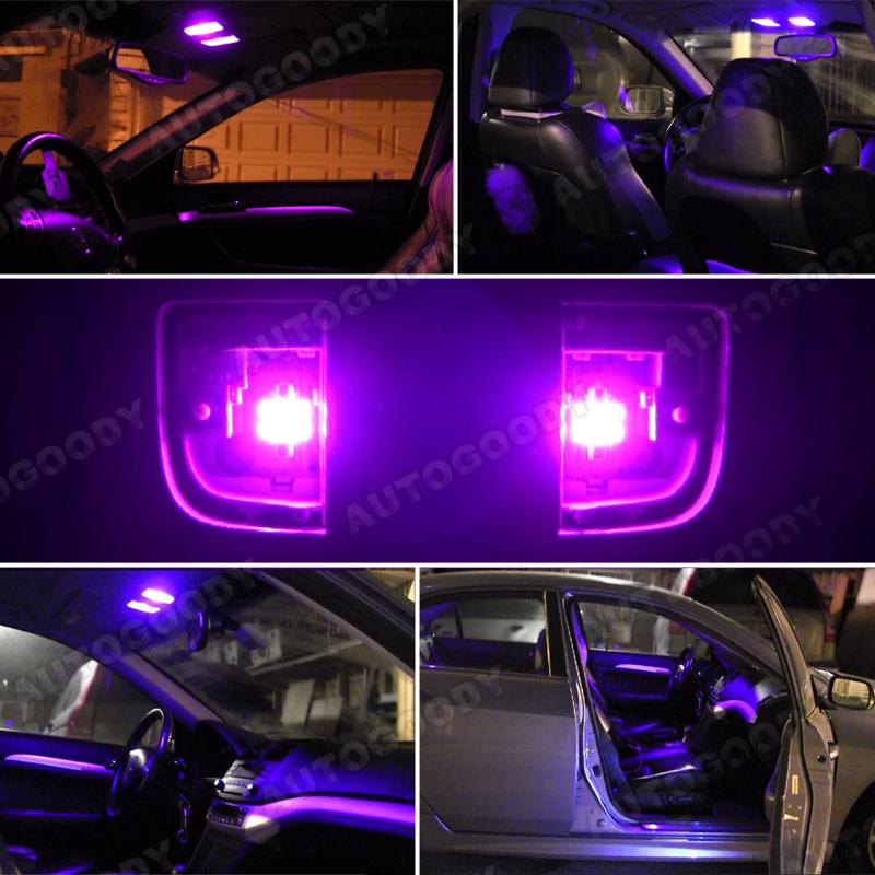 9 x premium hot pink led lights interior package kit for lancer evo 8 9 ebay. Black Bedroom Furniture Sets. Home Design Ideas