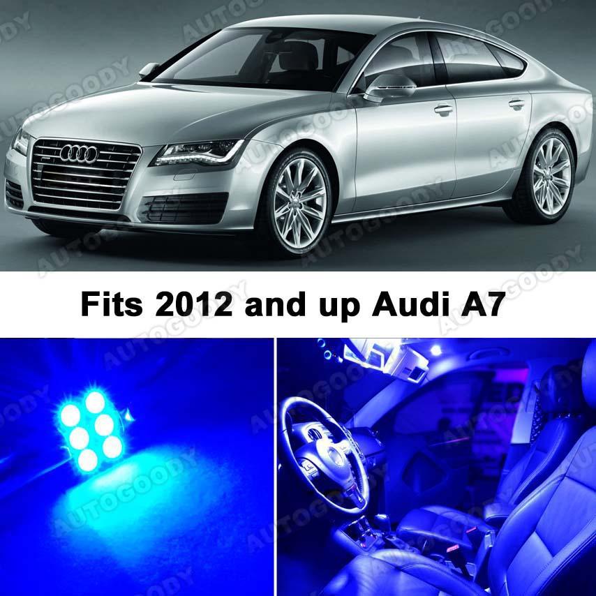Audi A7 Blue LED Lights Interior Package Kit 4G