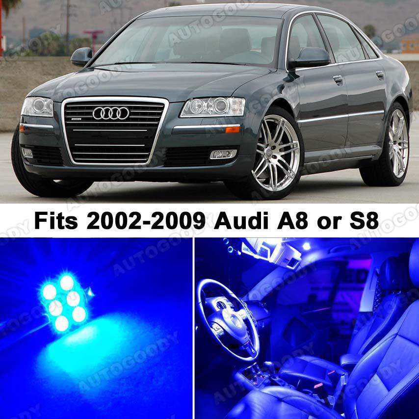 Audi A8 S8 Blue LED Lights Interior Package Kit D3