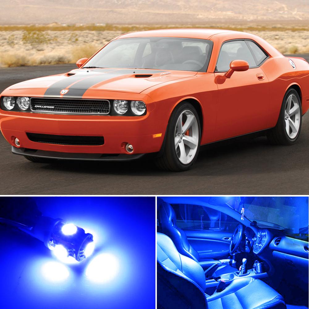 12 X Premium Blue Led Lights Interior Package Upgrade For Dodge Challenger