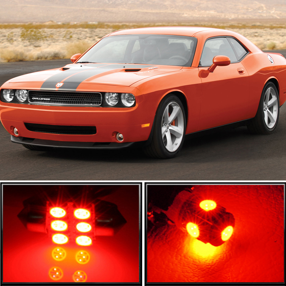 12 X Premium Red Led Lights Interior Package Upgrade For Dodge Challenger 08 17 Ebay