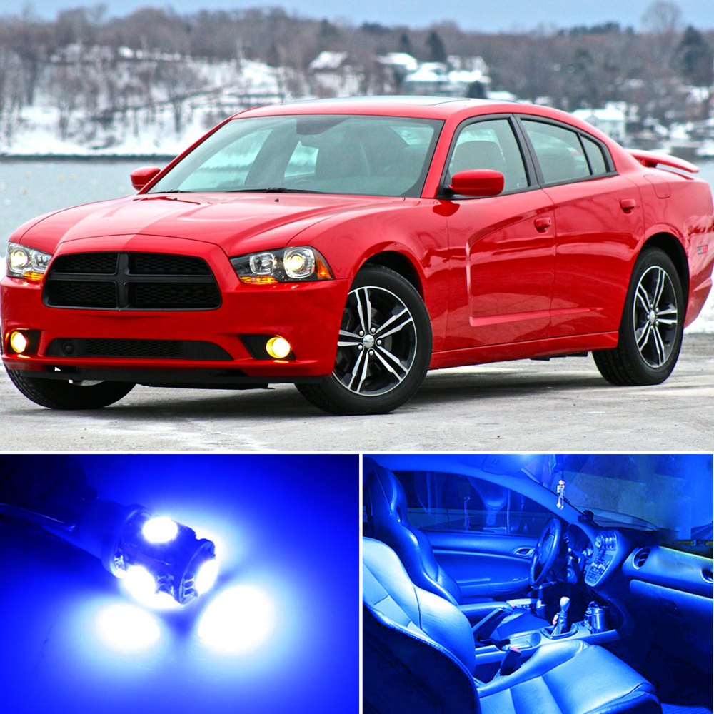 19 X Premium Blue Led Lights Interior Package For Dodge Charger 2006 2017 Tool