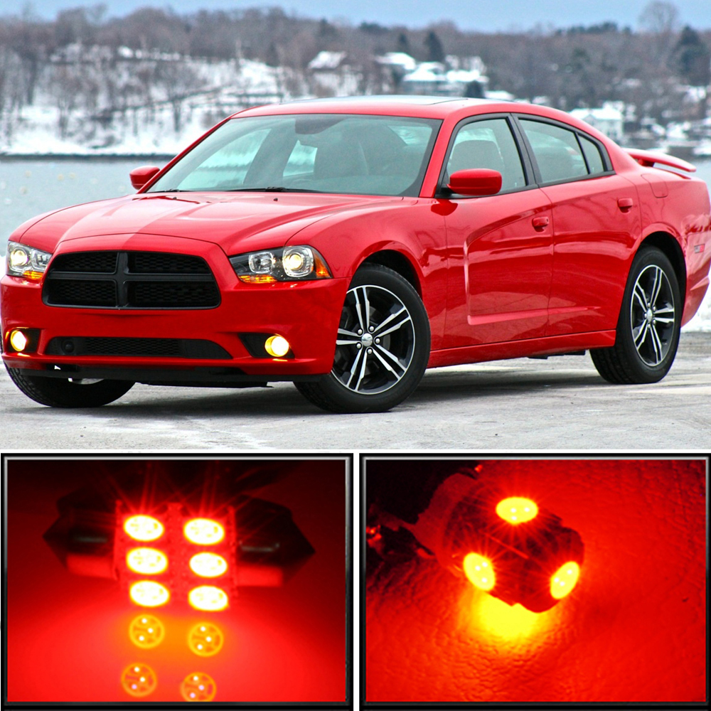 19 X Premium Red Led Lights Interior Package Upgrade For Dodge Charger Ebay
