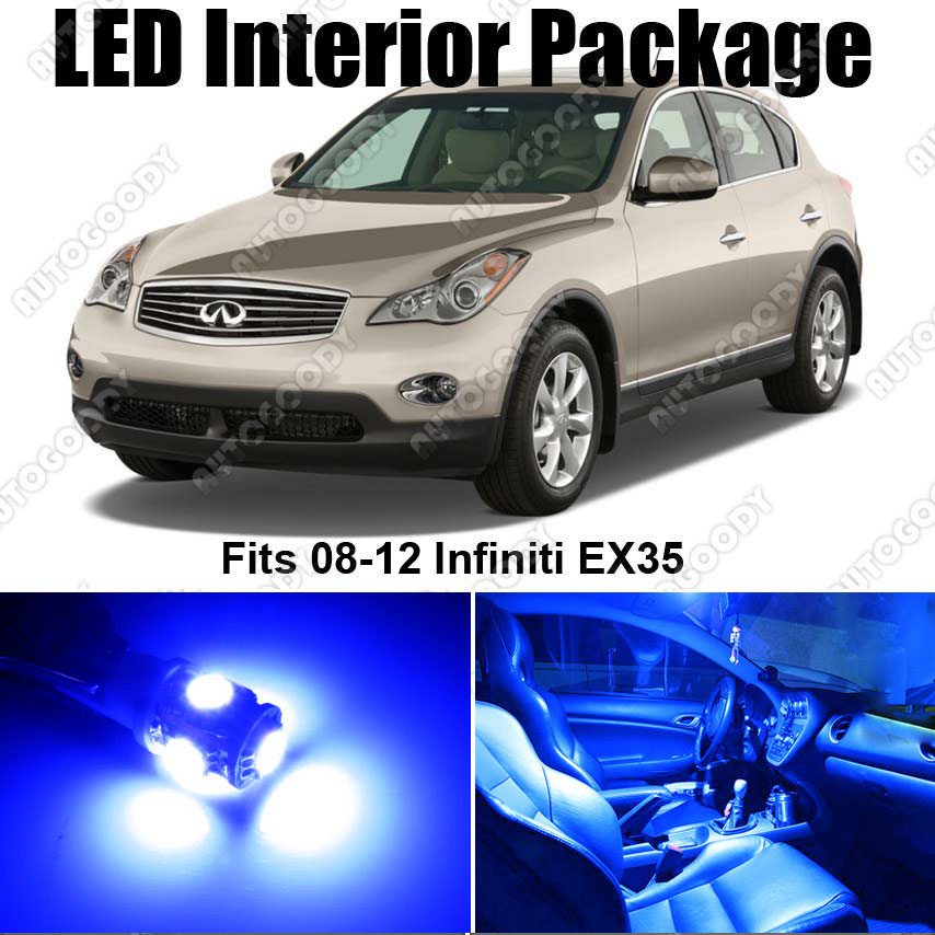 Infiniti Ex35 2011: 8 X Premium Blue LED Lights Interior Package Kit For