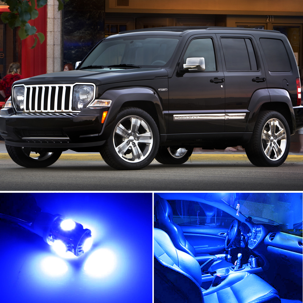 7 X Premium Blue Led Lights Interior Package Upgrade For Jeep Liberty Ebay