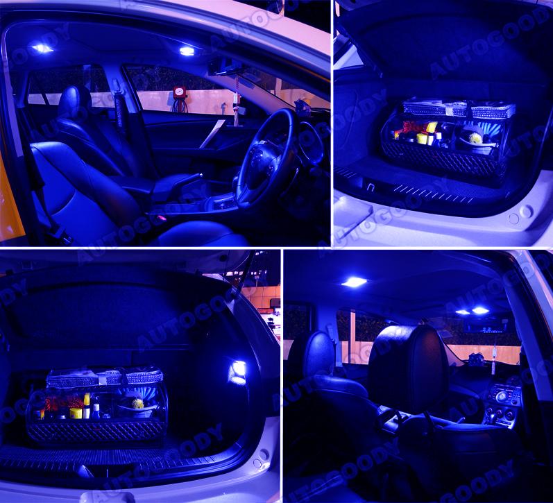 8 X Premium Blue Led Lights Interior Package Kit For 2010 2014 Mazda 3 Tool Ebay