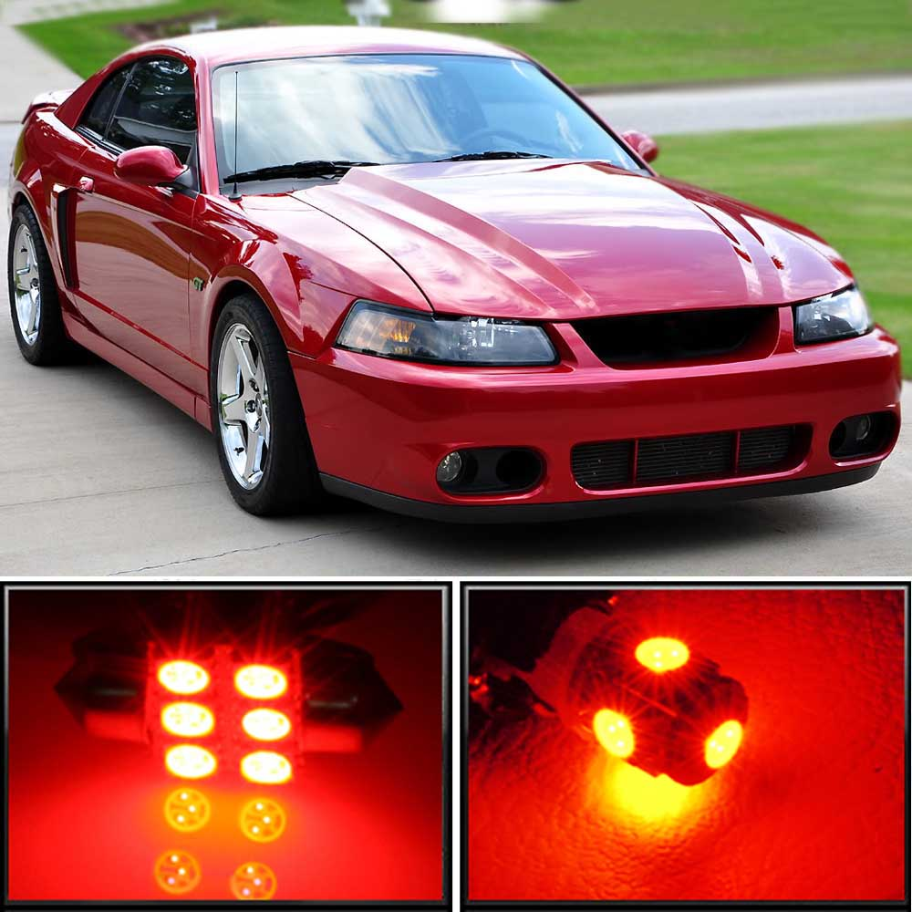 11 X Premium Red Led Lights Interior Package Upgrade For Ford Mustang 1994 2004 Ebay