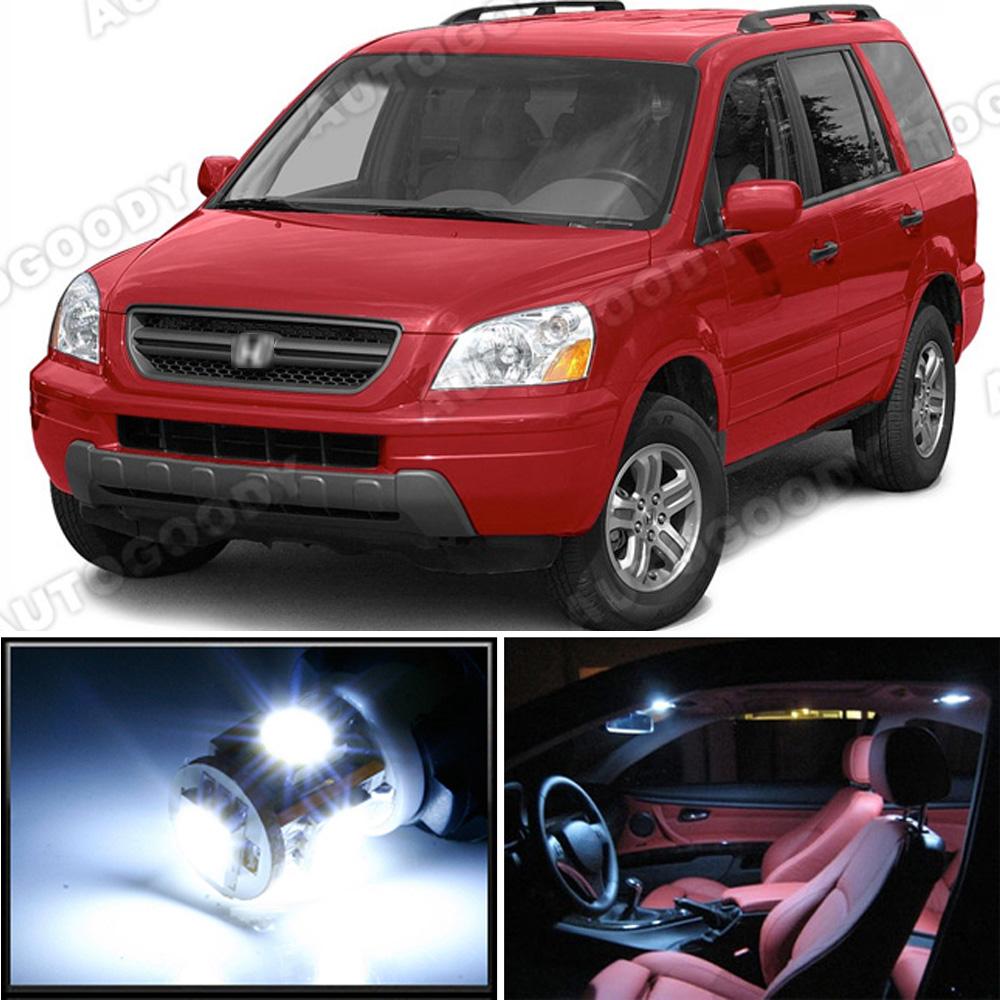 18 X Premium Xenon White Led Lights Interior Package Kit For Honda Pilot 03 05 Ebay