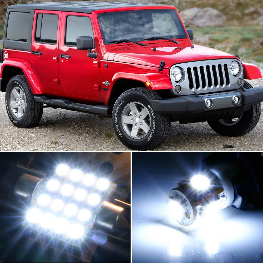 8 X Premium Xenon White Led Lights Interior Package Upgrade For Jeep Wrangler Ebay