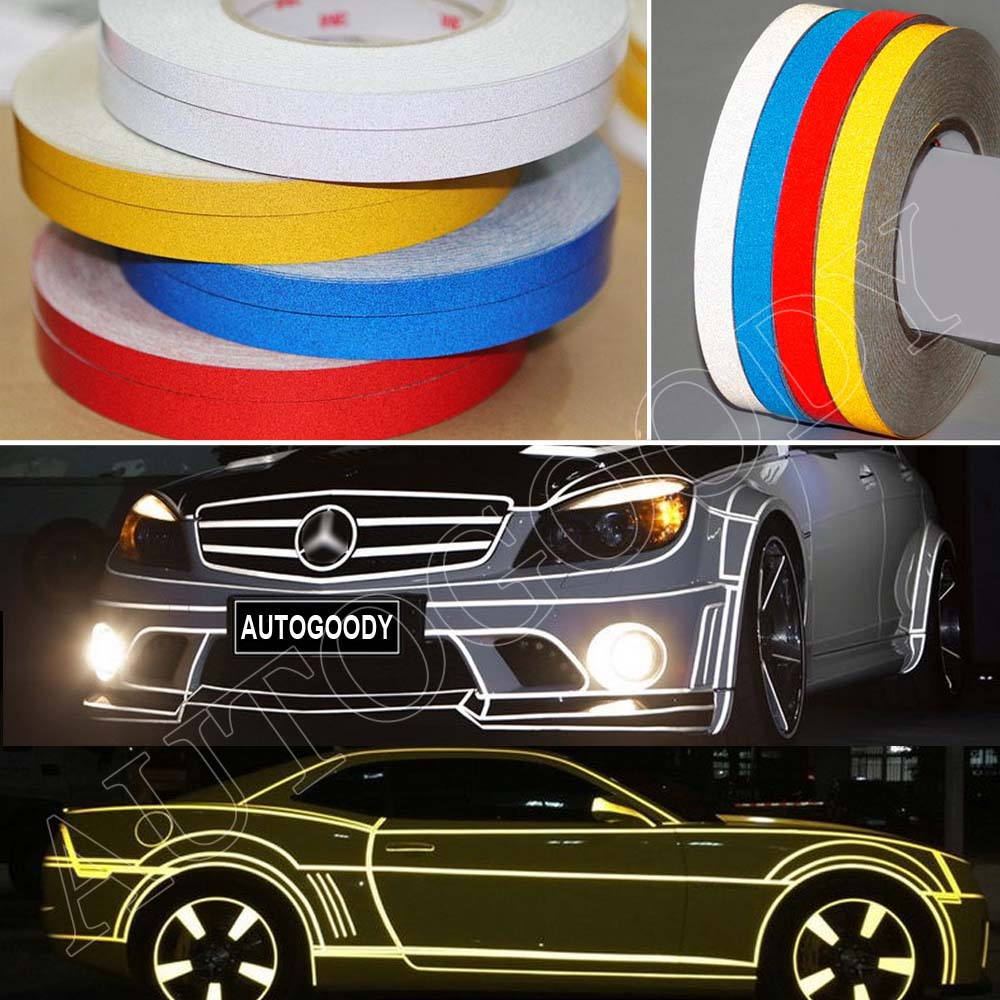 Reflective body stripe sticker diy tape self adhesive 150 for Most reflective white paint